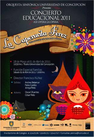 Afiche concierto educacional 2011