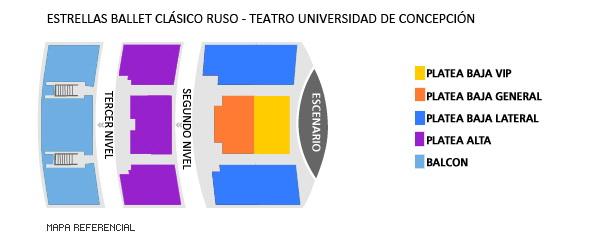 Mapa Teatro Universidad de Concepción